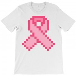 Pixeled Pink Ribbon T-Shirt | Artistshot
