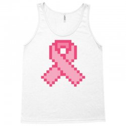 Pixeled Pink Ribbon Tank Top | Artistshot
