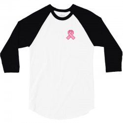 Pixeled Pink Ribbon 3/4 Sleeve Shirt | Artistshot