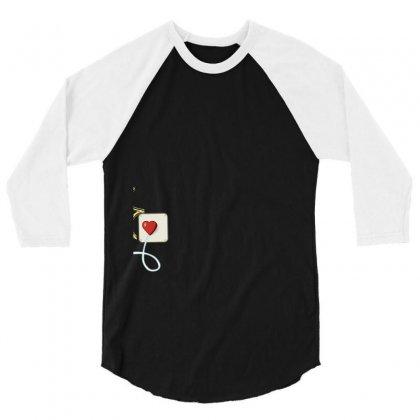Electrical Plug & Light Bulb Couples Design 3/4 Sleeve Shirt Designed By Tshiart