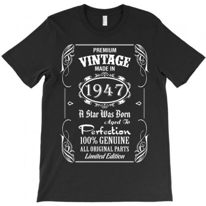 Premium Vintage Made In 1947 T-shirt Designed By Tshiart