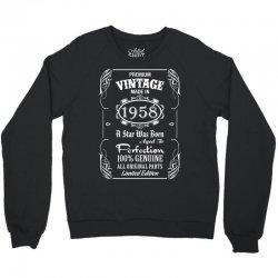 Premium Vintage Made In 1958 Crewneck Sweatshirt   Artistshot