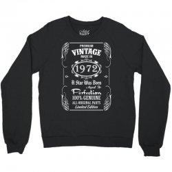 Premium Vintage Made In 1972 Crewneck Sweatshirt | Artistshot