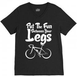 Put The Fun Between Your Legs V-Neck Tee | Artistshot