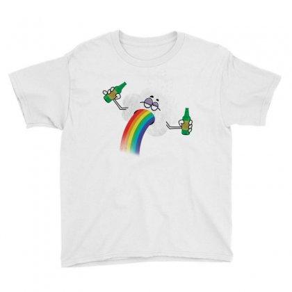 Rainbow Puke Youth Tee Designed By Tshiart
