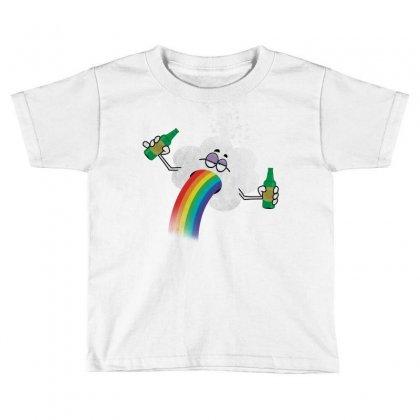Rainbow Puke Toddler T-shirt Designed By Tshiart