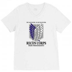 Recon Corps- Attack on Titan V-Neck Tee | Artistshot