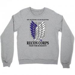 Recon Corps- Attack on Titan Crewneck Sweatshirt | Artistshot