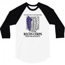 Recon Corps- Attack on Titan 3/4 Sleeve Shirt | Artistshot