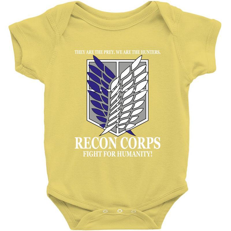 Custom Recon Corps Attack On Titan Baby Bodysuit By Tshiart