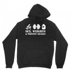 Sex, Weights and Protein Shakes Unisex Hoodie | Artistshot