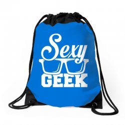 Like a i love cool sexy geek nerd glasses boss Drawstring Bags | Artistshot