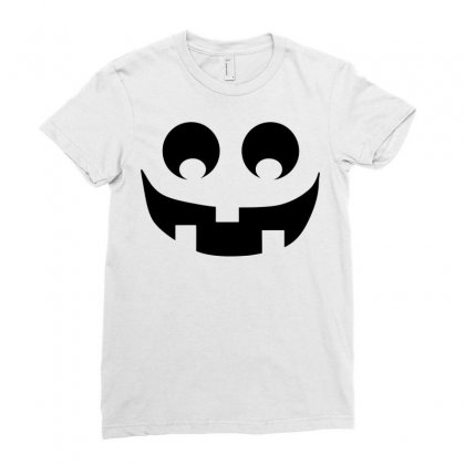 Halloween Pumpkin Face Ladies Fitted T-shirt Designed By Sbm052017