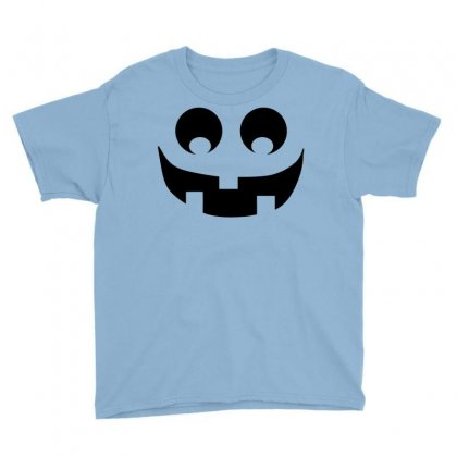 Halloween Pumpkin Face Youth Tee Designed By Sbm052017