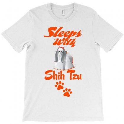Sleeps With Shih Tzu T-shirt Designed By Tshiart