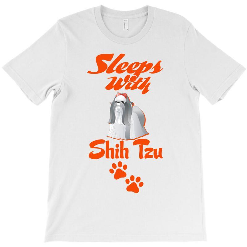 Sleeps With Shih Tzu T-shirt | Artistshot