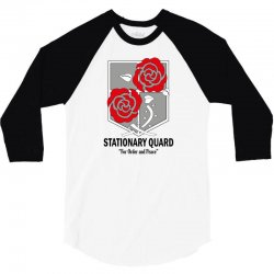 Stationary Quard- Attack on Titan 3/4 Sleeve Shirt   Artistshot
