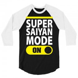 Super Saiyan Mode ON 3/4 Sleeve Shirt | Artistshot