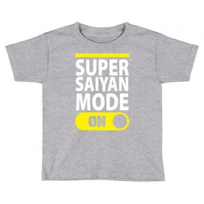 Super Saiyan Mode On Toddler T-shirt Designed By Tshiart