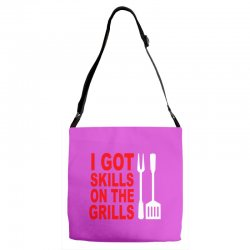 got skills on the grills apron Adjustable Strap Totes | Artistshot