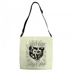 Stay Free Stay Wild Adjustable Strap Totes | Artistshot
