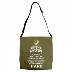 We Choose to Go to The Moon Adjustable Strap Totes | Artistshot