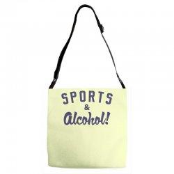 sports and alcohol! Adjustable Strap Totes | Artistshot