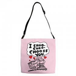 i choo choo choose you Adjustable Strap Totes | Artistshot