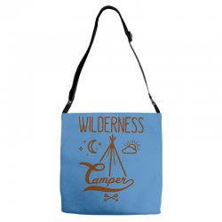 wilderness camper Adjustable Strap Totes | Artistshot