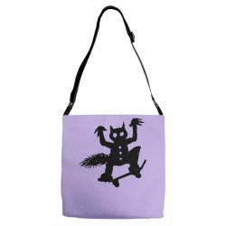 wild thing on a skateboard Adjustable Strap Totes | Artistshot