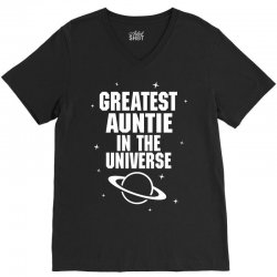 Greatest Auntie In The Universe V-Neck Tee | Artistshot