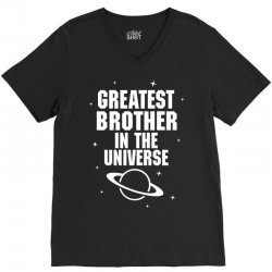 Greatest Brother In The Universe V-Neck Tee   Artistshot