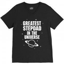 Greatest Stepdad In The Universe V-Neck Tee   Artistshot