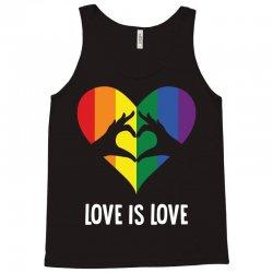 Love Is Love LGBT Rainbow Heart Tank Top | Artistshot