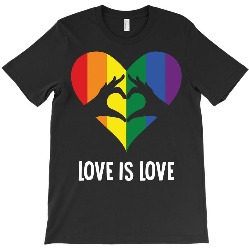 Love Is Love Lgbt Rainbow Heart T-shirt | Artistshot