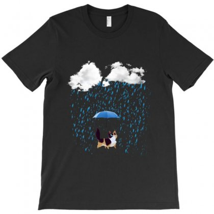 Cat Rain T-shirt Designed By Sefaarioglu