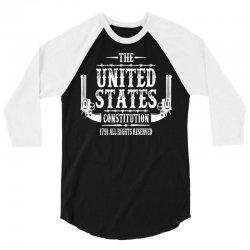 The United States Constitution 3/4 Sleeve Shirt   Artistshot