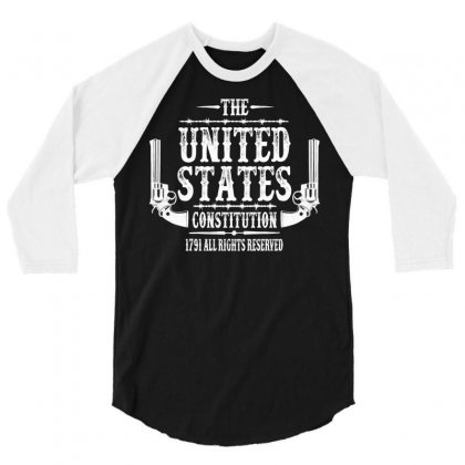 The United States Constitution 3/4 Sleeve Shirt Designed By Tshiart