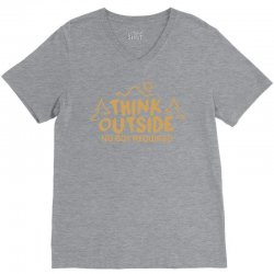 Think Outside. No Box Required. V-Neck Tee | Artistshot