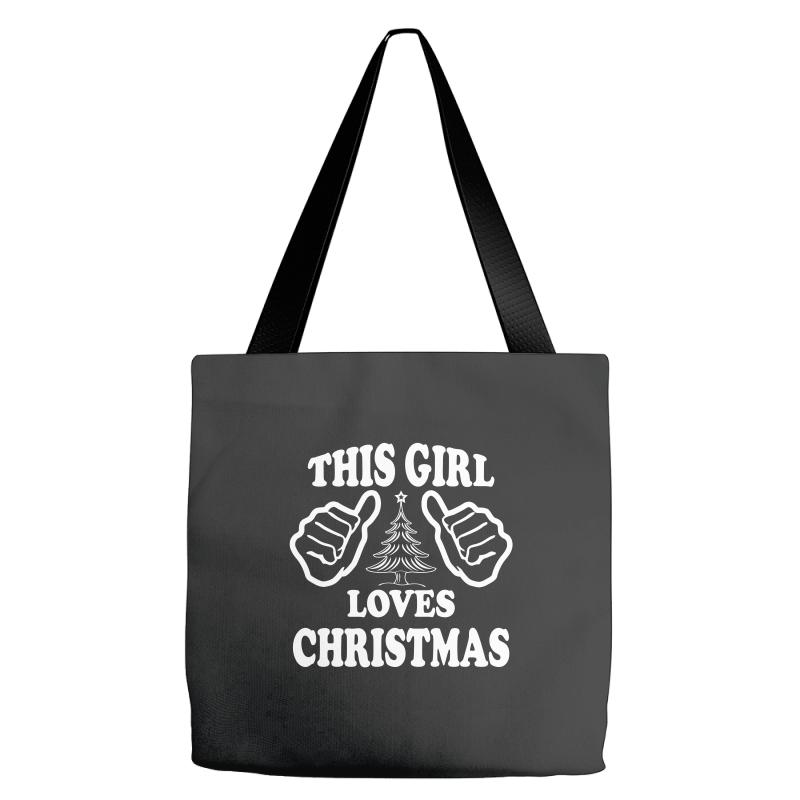 this girl loves christmas tote bags artistshot