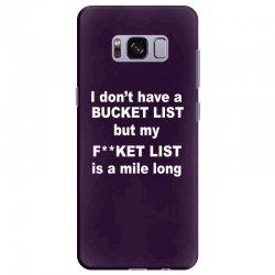 fucket list Samsung Galaxy S8 Plus Case | Artistshot