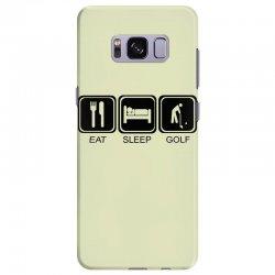 eat,sleep,golf Samsung Galaxy S8 Plus Case | Artistshot