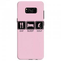 eat,sleep,golf Samsung Galaxy S8 Case | Artistshot