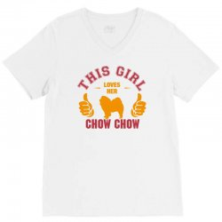 This Girl Loves Her Chow Chow V-Neck Tee | Artistshot