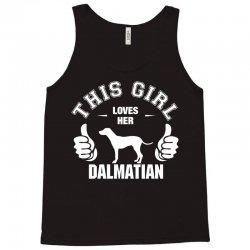 This Girl Loves Her Dalmatian Tank Top   Artistshot