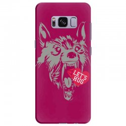 screaming wolf love you Samsung Galaxy S8 Plus Case | Artistshot