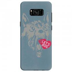 screaming wolf love you Samsung Galaxy S8 Case | Artistshot