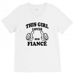 This Girl Loves Her Fiance V-Neck Tee | Artistshot