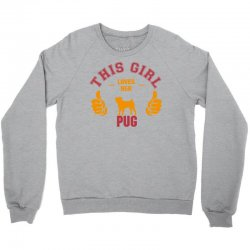 This Girl Loves Pug Crewneck Sweatshirt | Artistshot