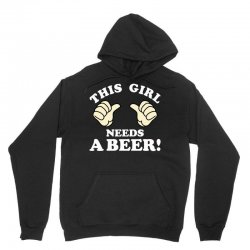 This Girl Needs a Beer Unisex Hoodie | Artistshot